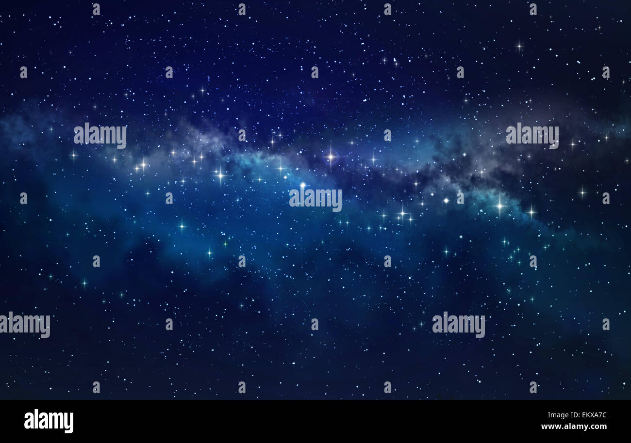Espacio profundo. Campo de estrellas de fondo en alta definición Imagen De Stock