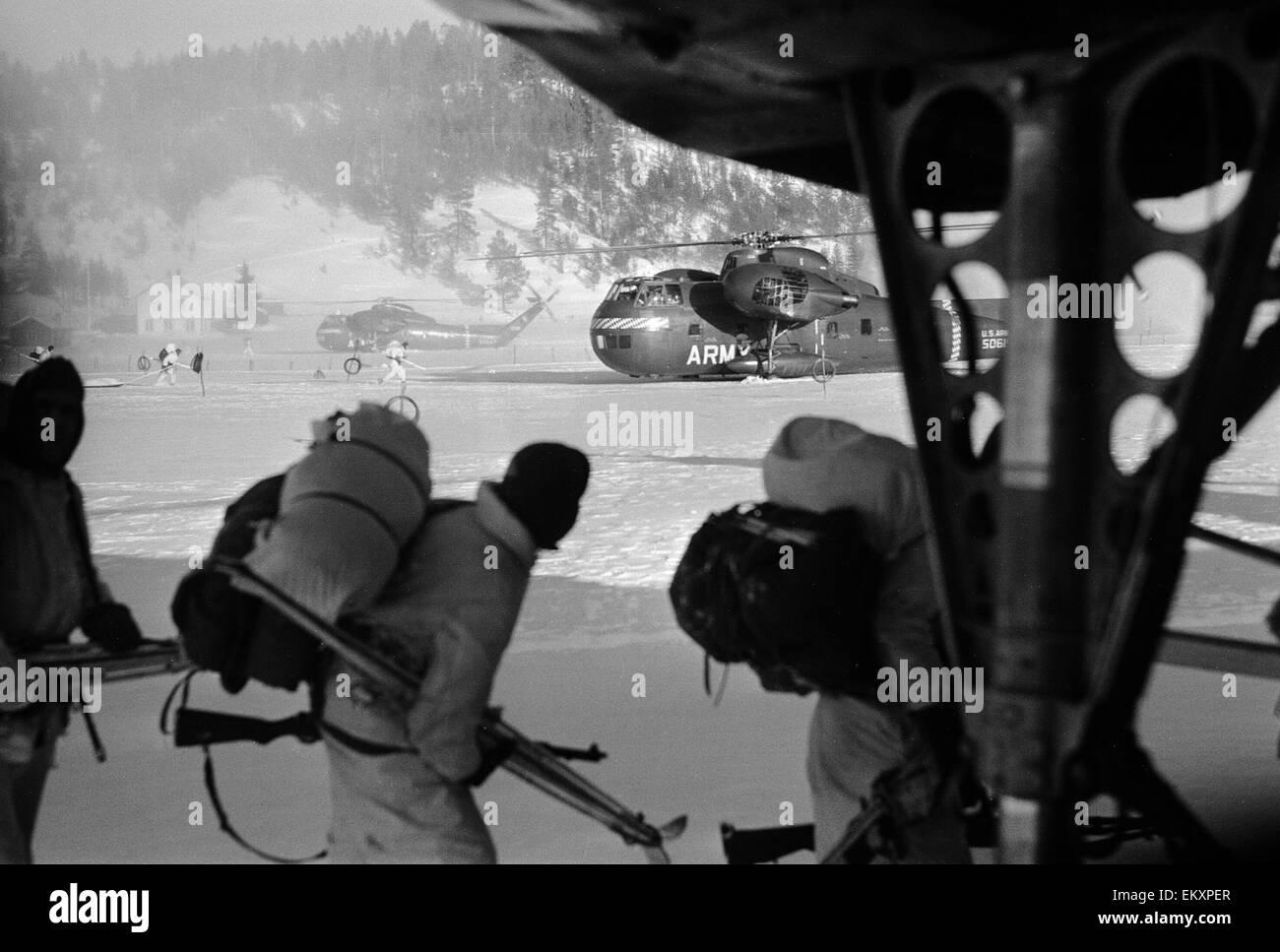 Ejercicios N.A.T.O en Noruega. Febrero de 1966 Imagen De Stock
