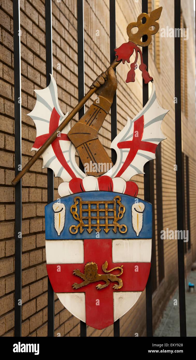 La Honorable Compañía de artillería escudo, Finsbury Barracas, Ciudad de Londres Imagen De Stock