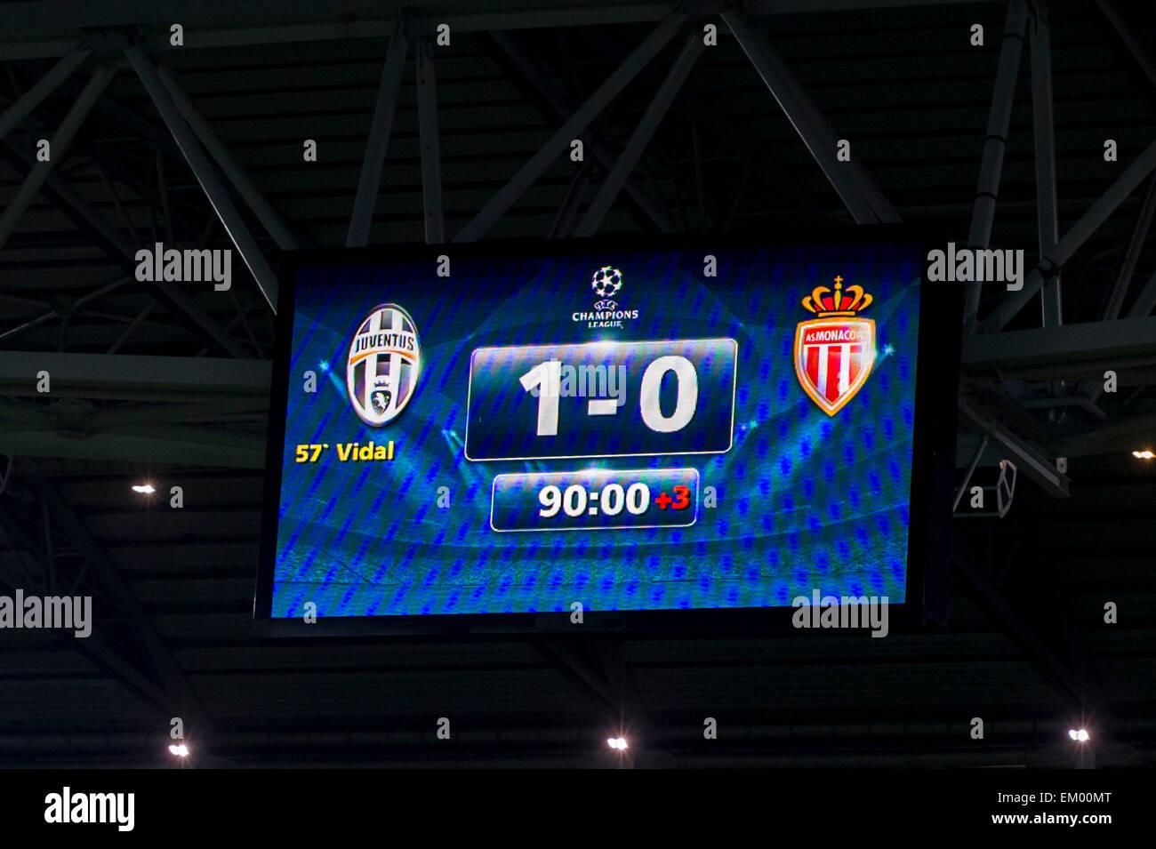 El marcador final de abril 14, 2015 - Fútbol/Soccer : UEFA Champions ...