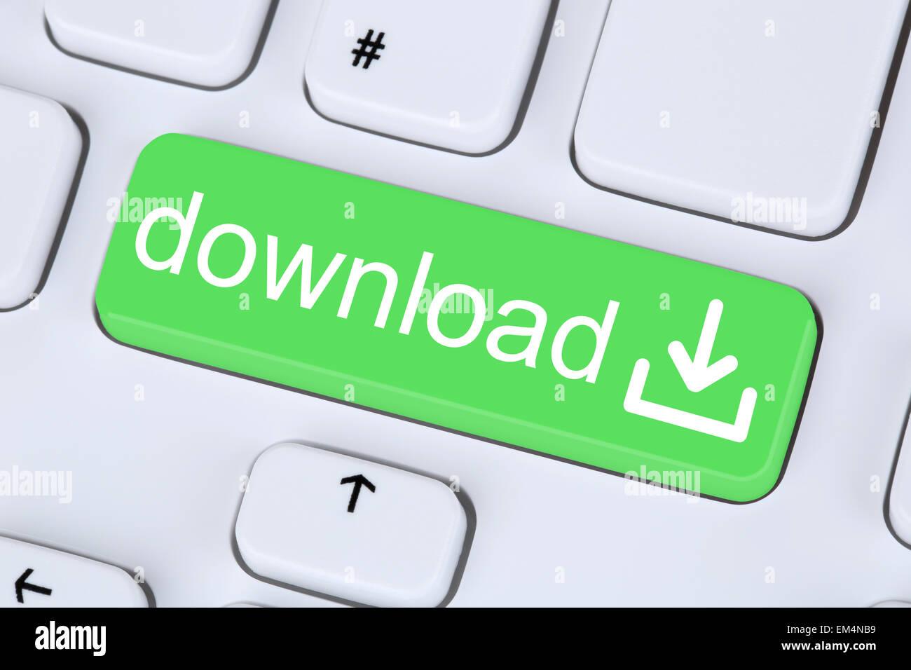 Descargar el símbolo de botón en el teclado del equipo de aplicación y datos Imagen De Stock