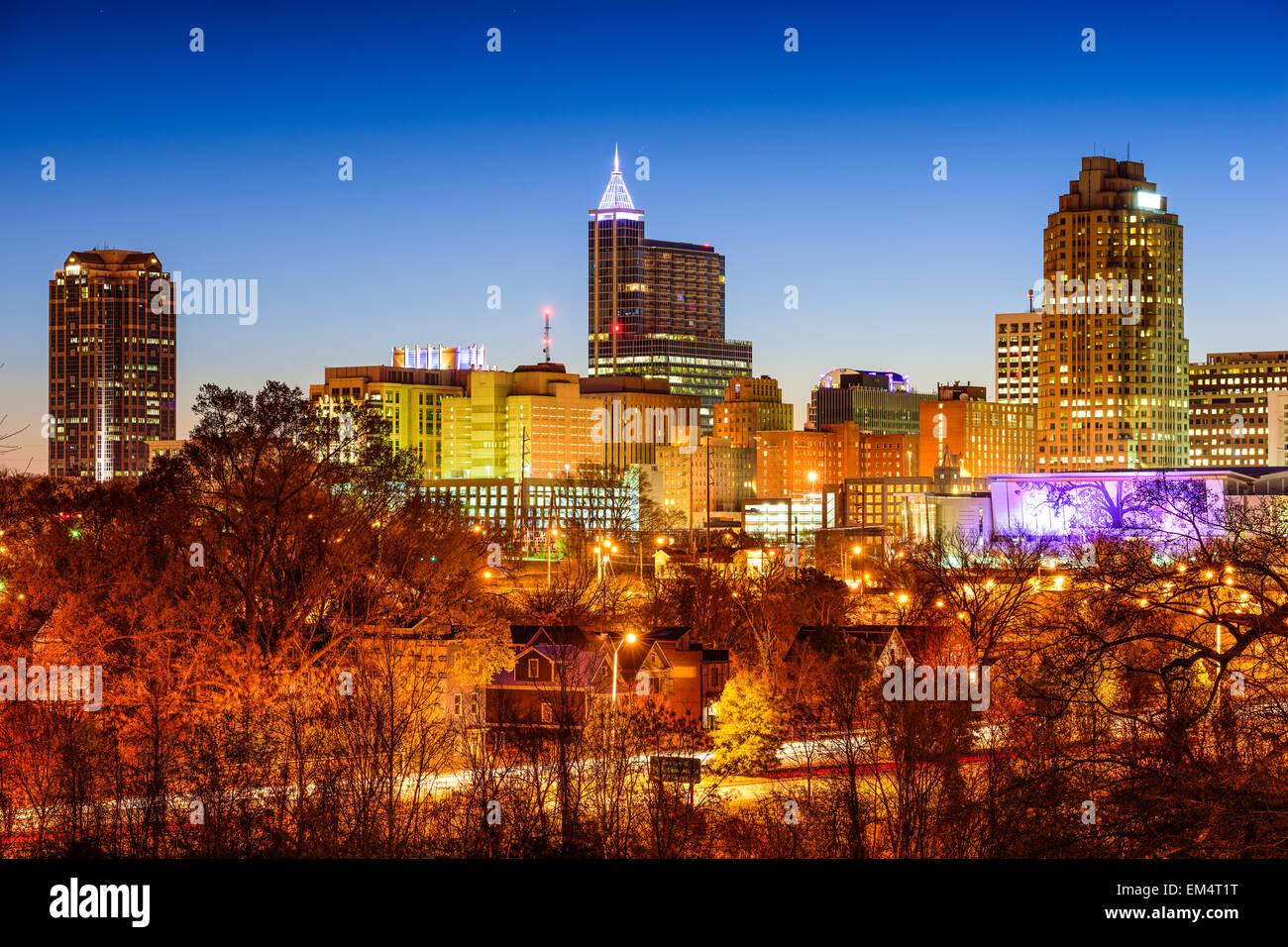 Raleigh, Carolina del Norte, EE.UU. horizonte. Imagen De Stock