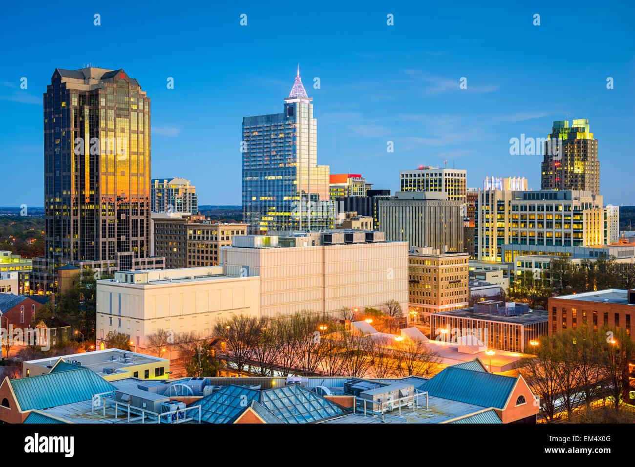 Raleigh, Carolina del Norte, EE.UU. Perfil del centro de la ciudad. Imagen De Stock