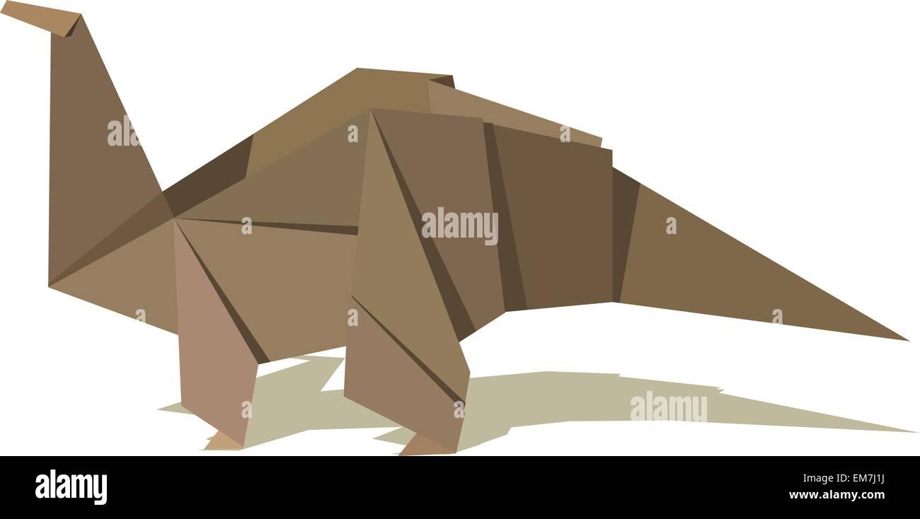 Dinosaurio Origami Ilustración del Vector