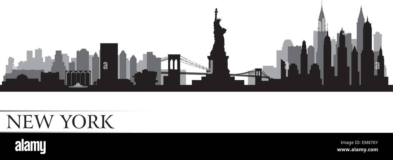 New York City Skyline Illustration Imágenes De Stock & New York City ...