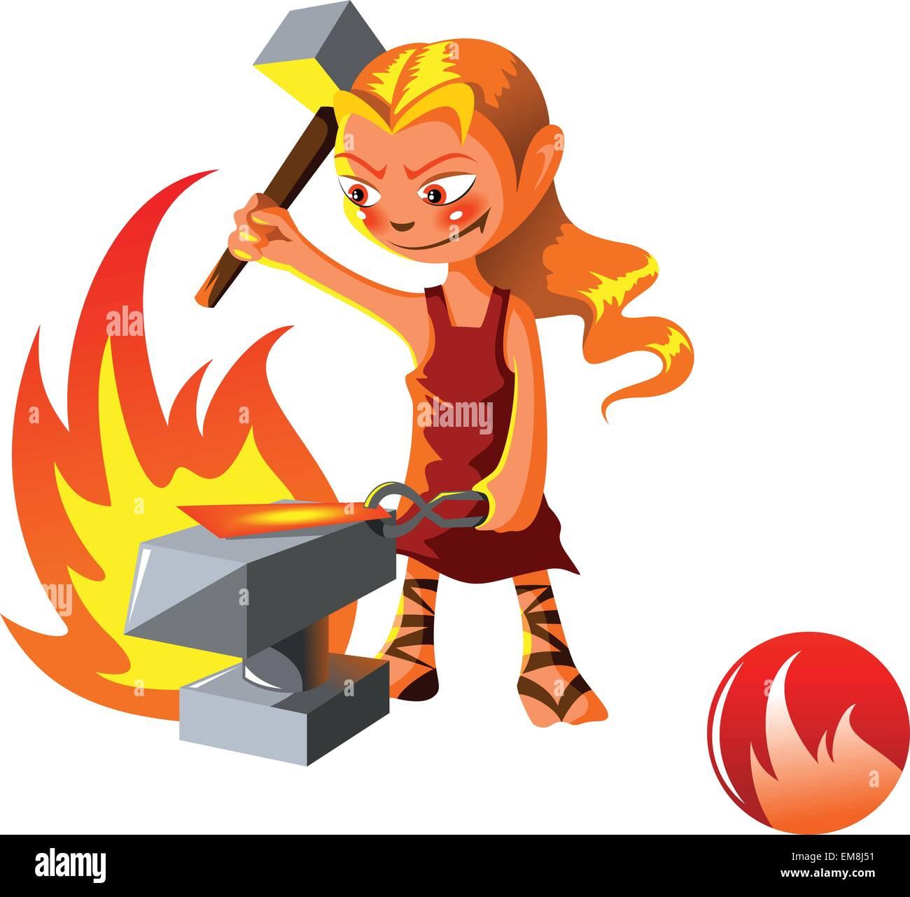 El Elemental de Fuego Imagen De Stock
