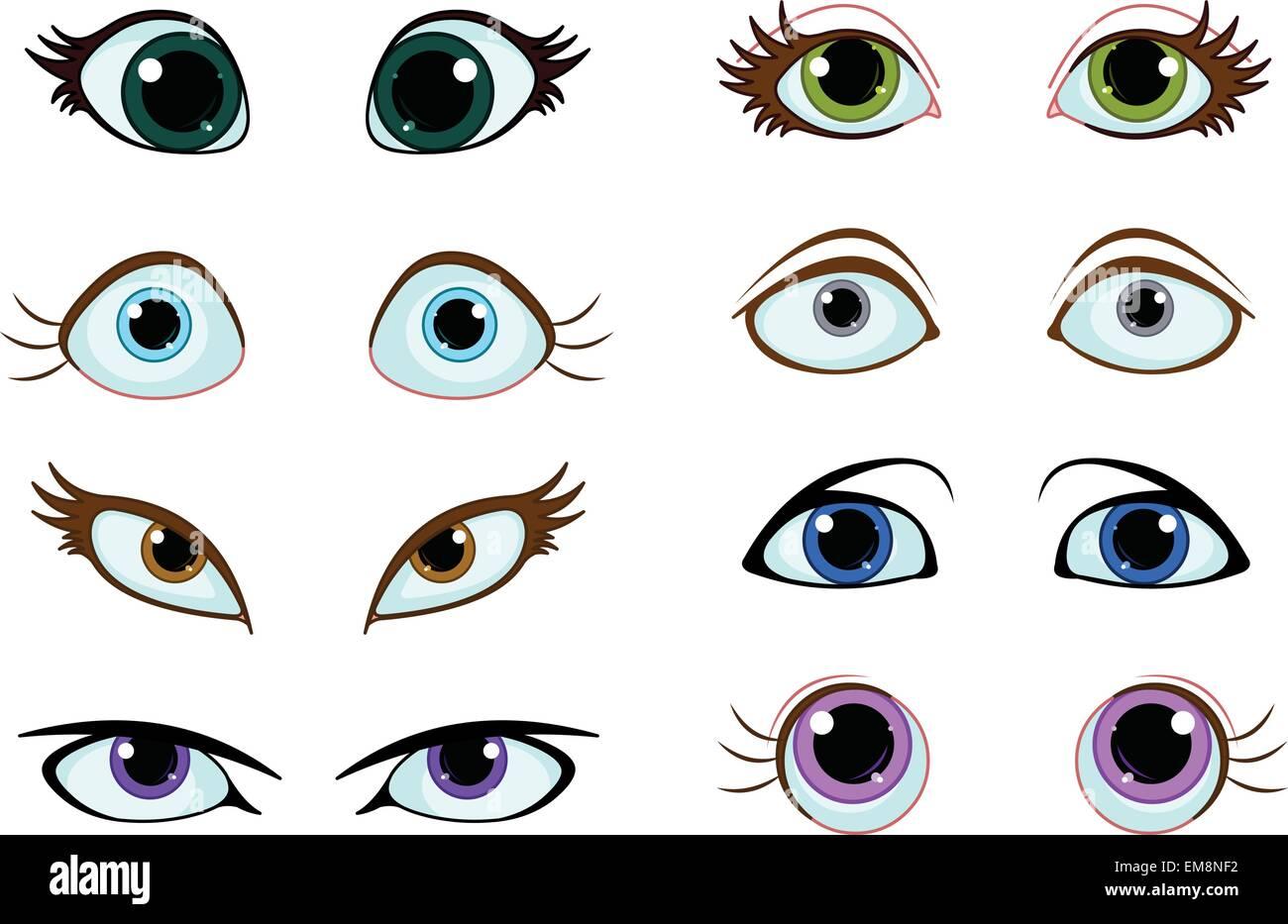 Ojos Cartoon
