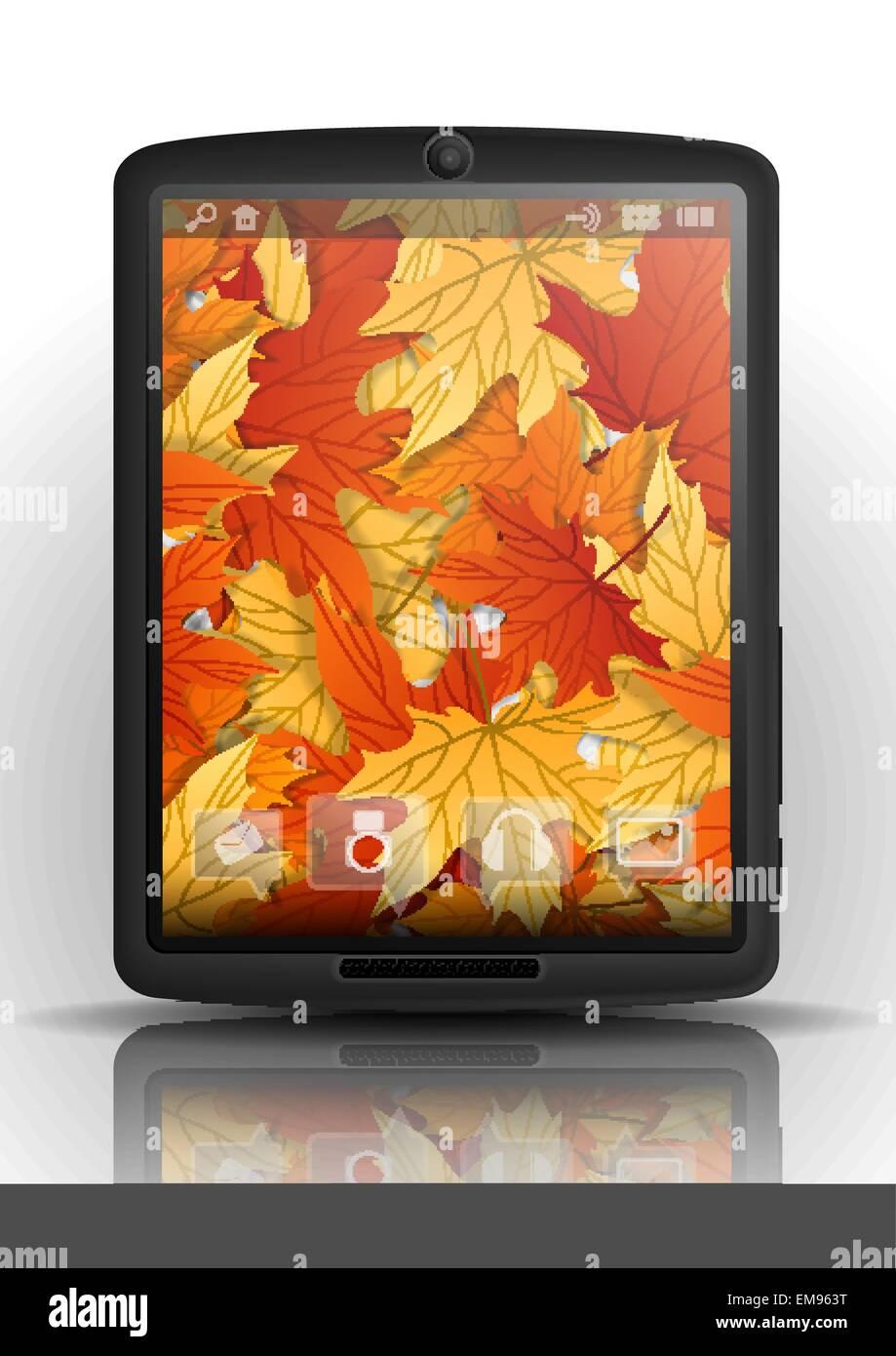 Tablet PC y teléfono móvil. Imagen De Stock