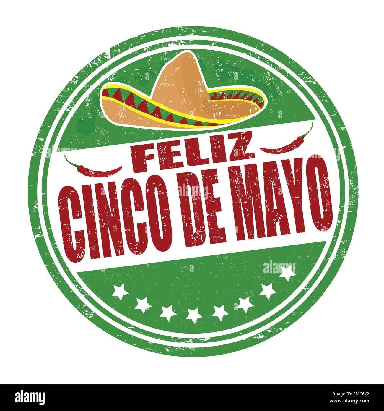 Feliz Cinco de Mayo sello Imagen De Stock