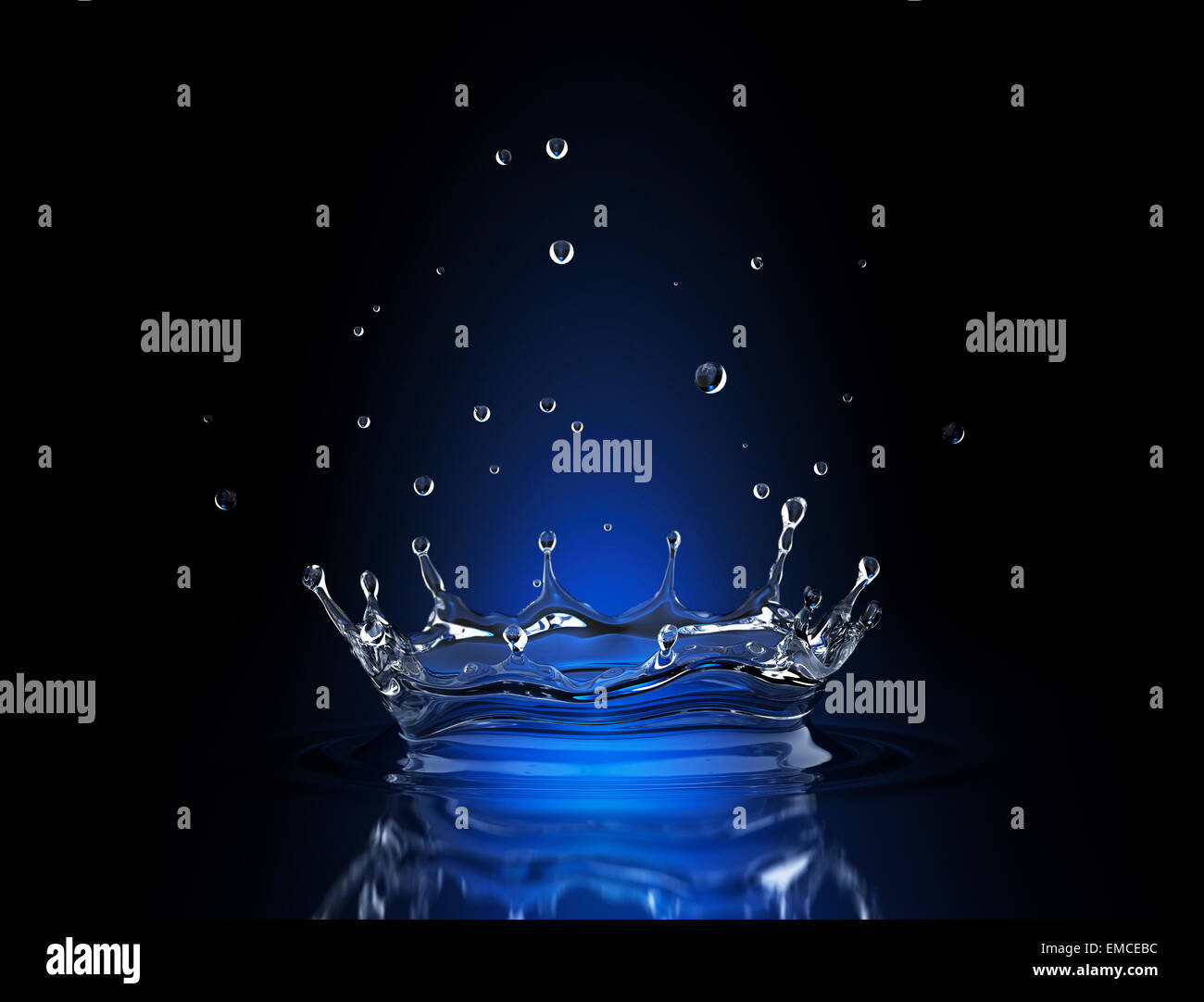En Blue Water Splash spot Imagen De Stock