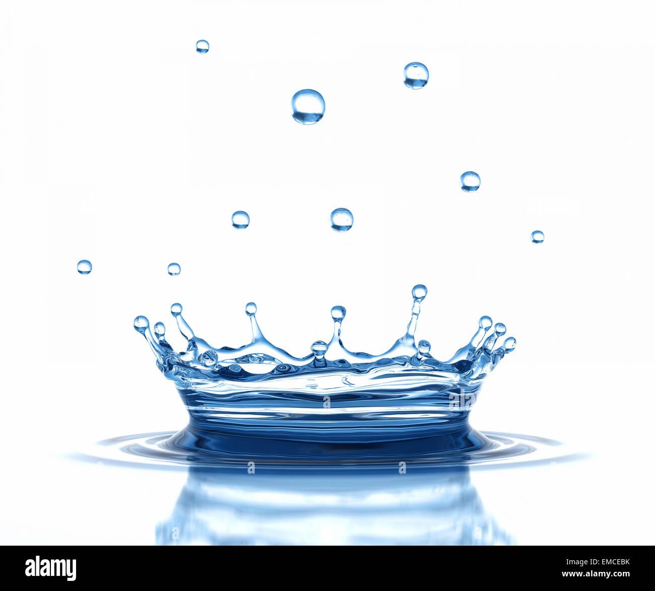 Corona de agua Imagen De Stock