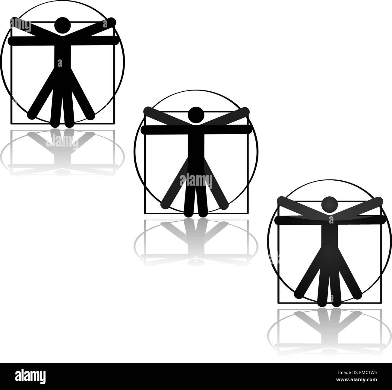 Icono de Vitruvio Ilustración del Vector