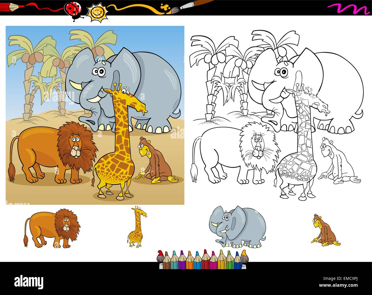 Perfecto Colorear Animales Africanos Ornamento - Ideas Para Colorear ...