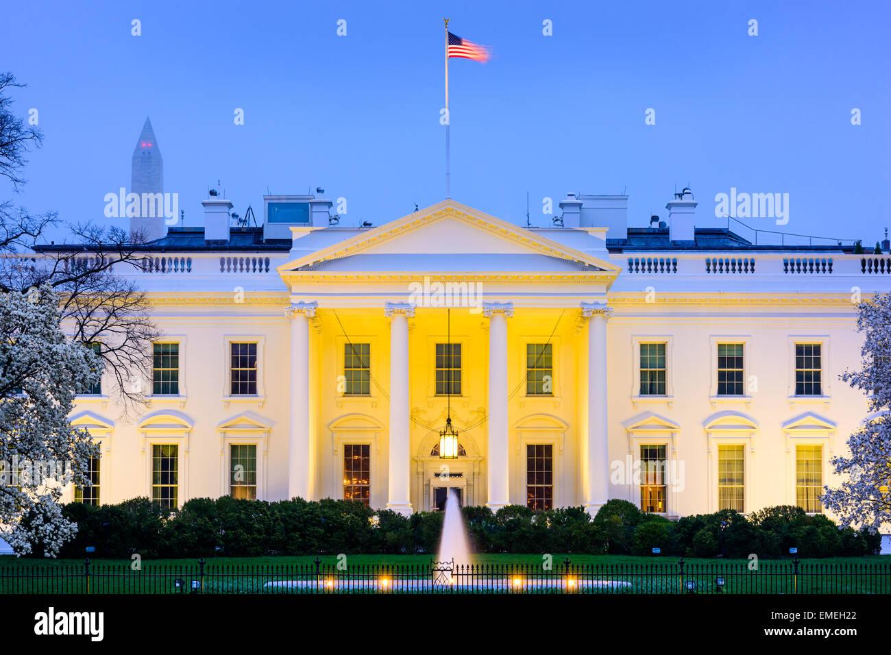 Washington, D.C., en la Casa Blanca. Imagen De Stock