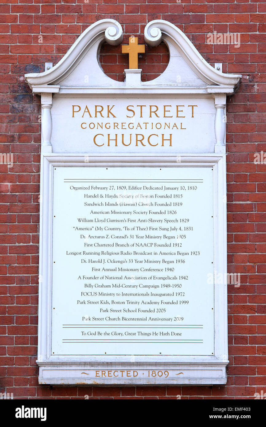 Boston Park Congregational Church Street. Imagen De Stock