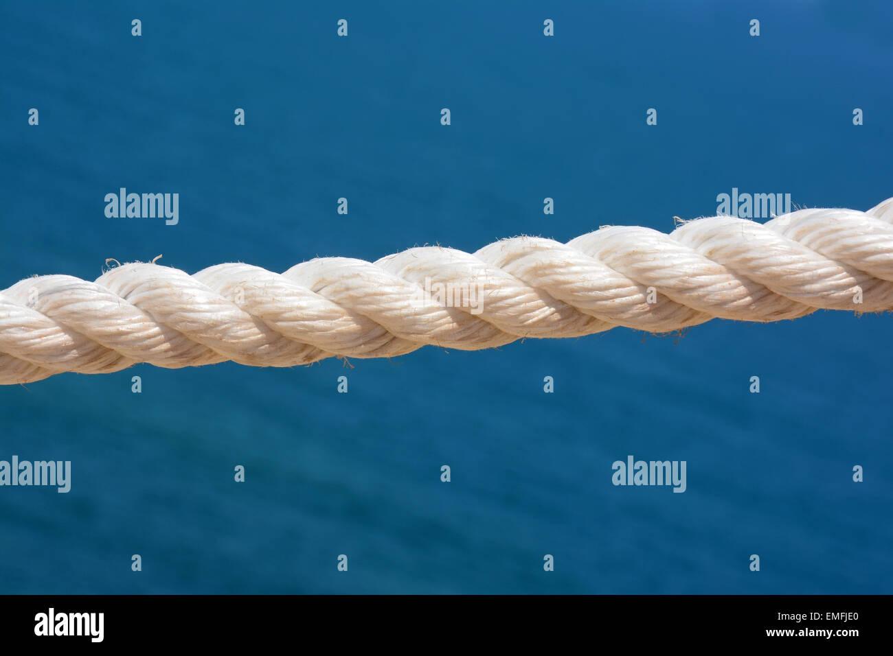 Cuerda blanca Foto de stock