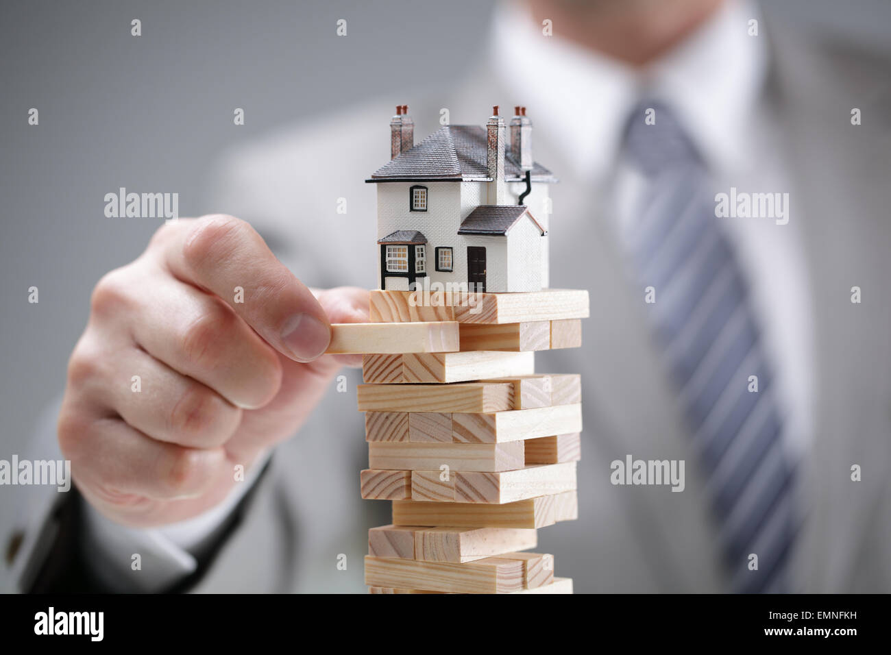 El riesgo de mercado de vivienda Foto de stock