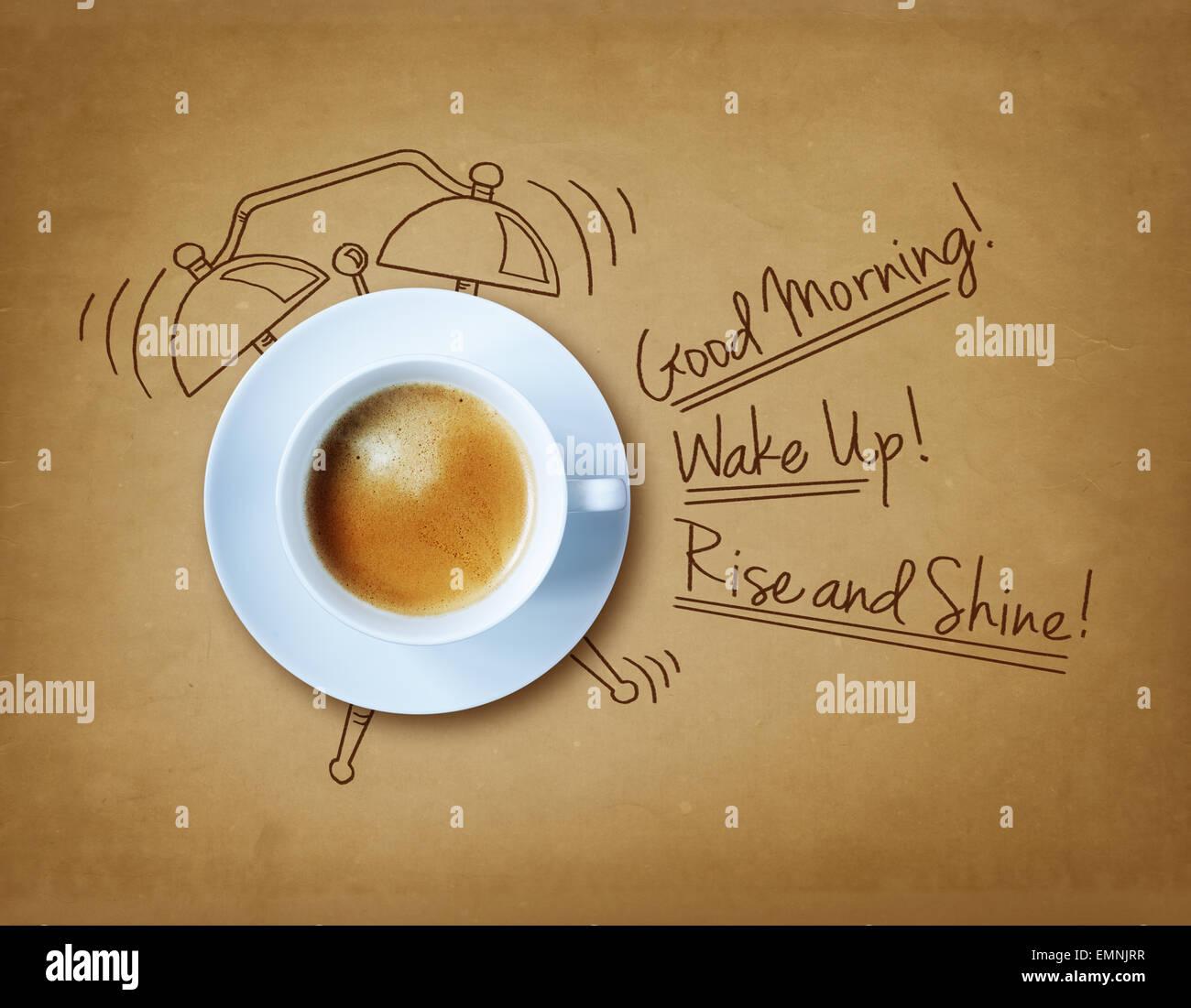 Buen café de la mañana Imagen De Stock