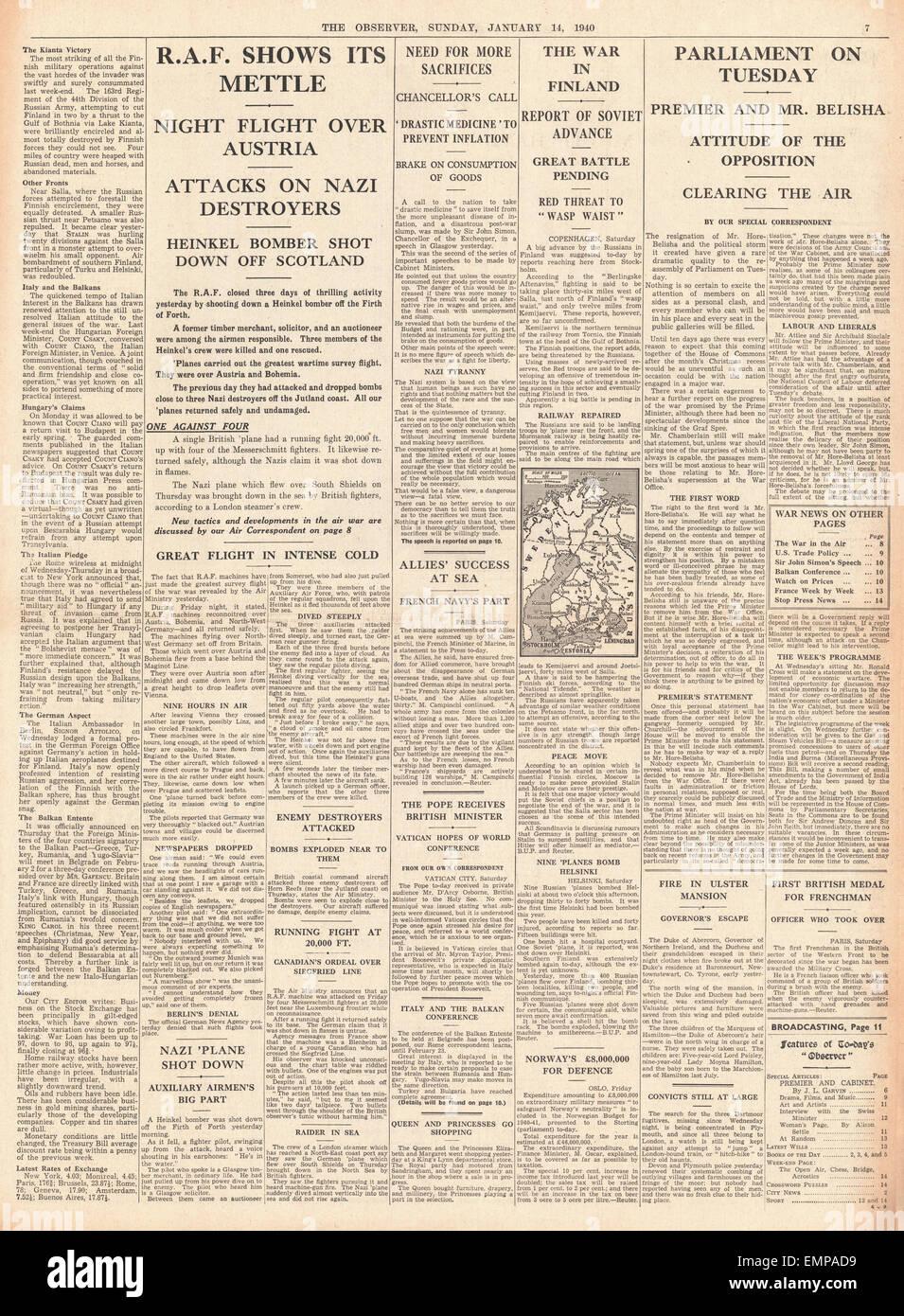 1940 página 7 El observador RAF en acción contra la Fuerza Aérea Alemana