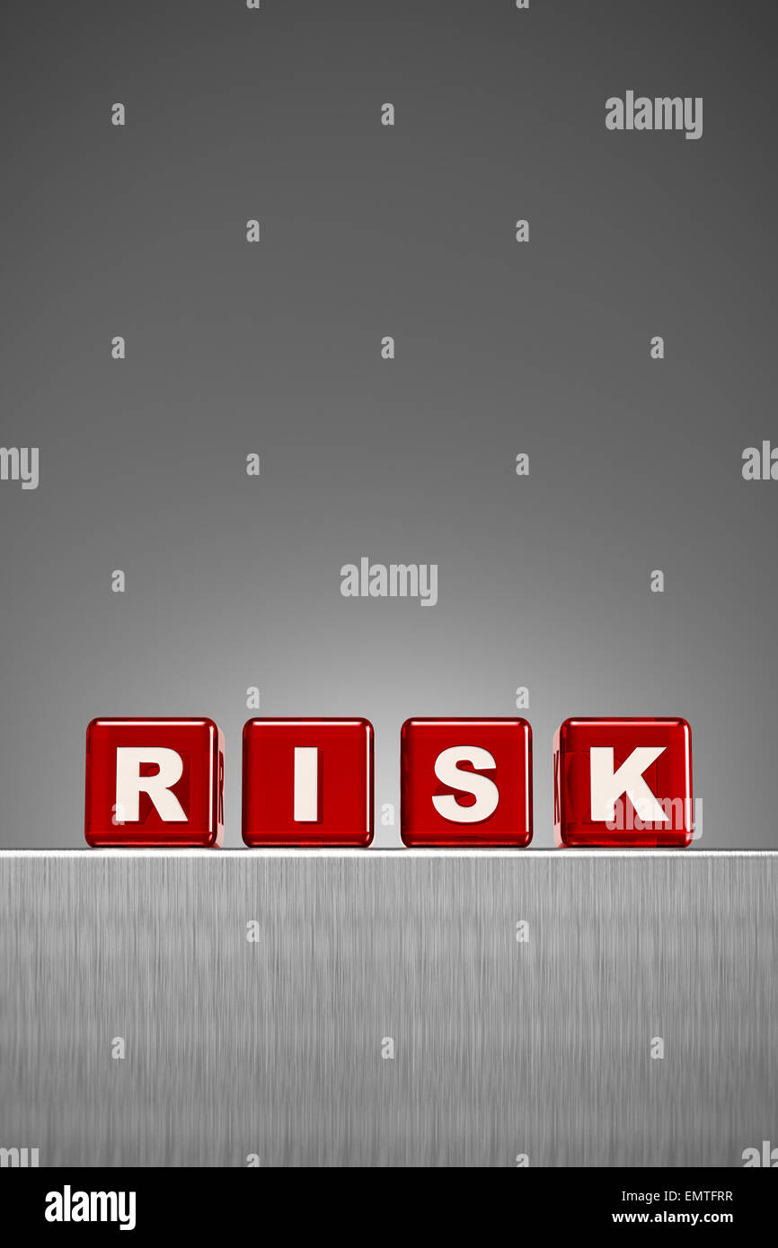 Concepto de riesgo Imagen De Stock