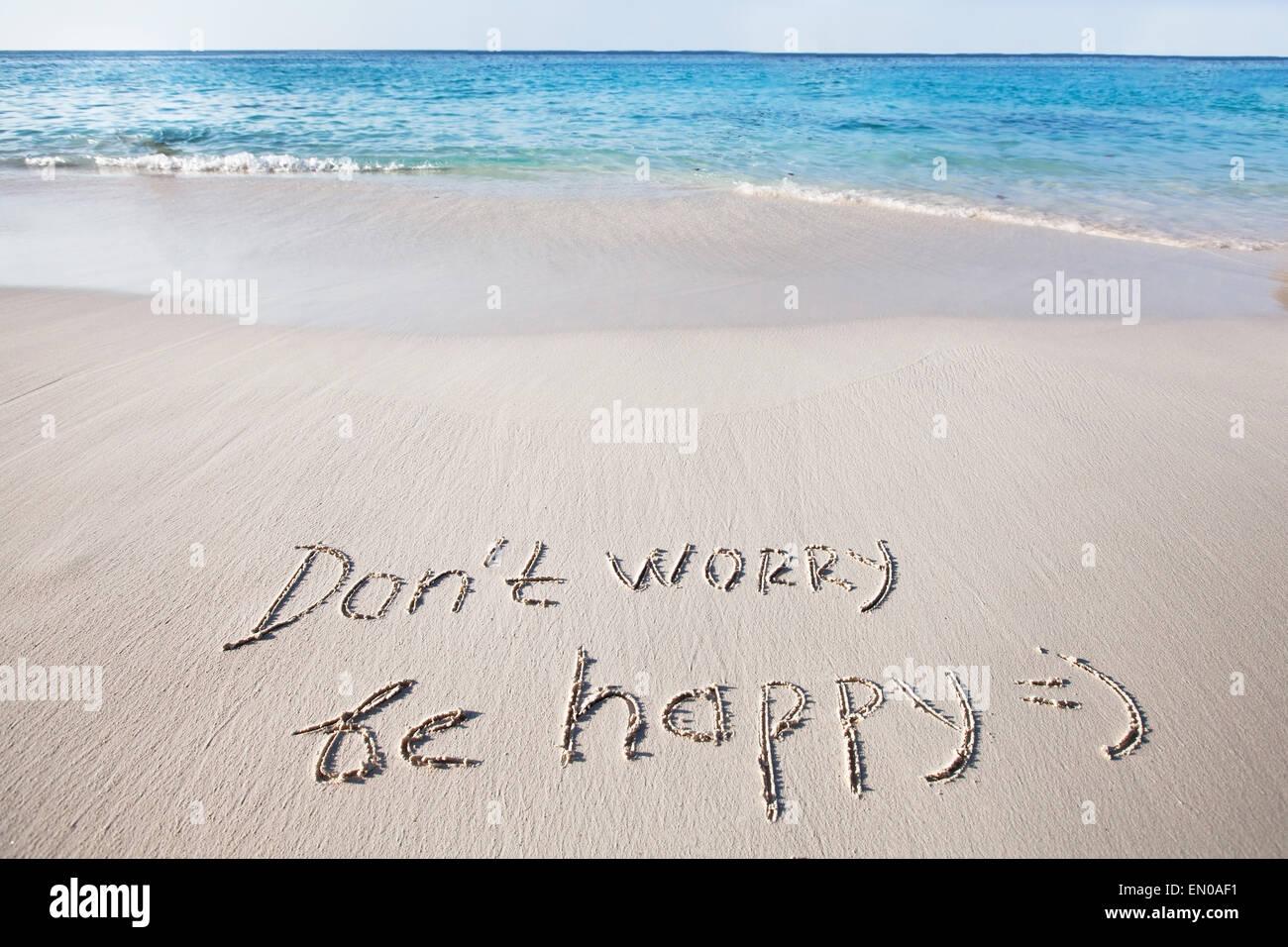 No se preocupe y sea feliz Imagen De Stock