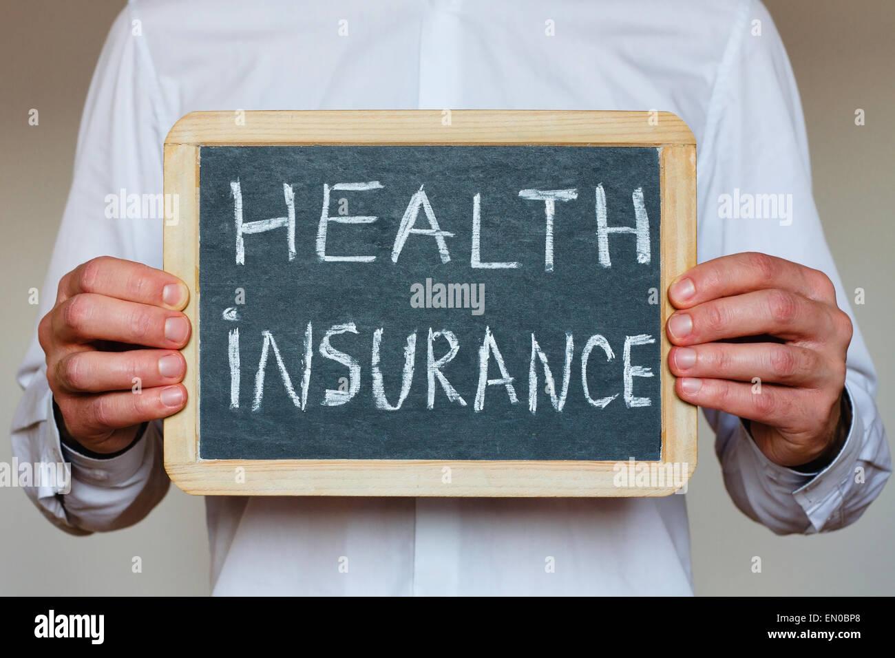 Concepto de seguros de salud Imagen De Stock