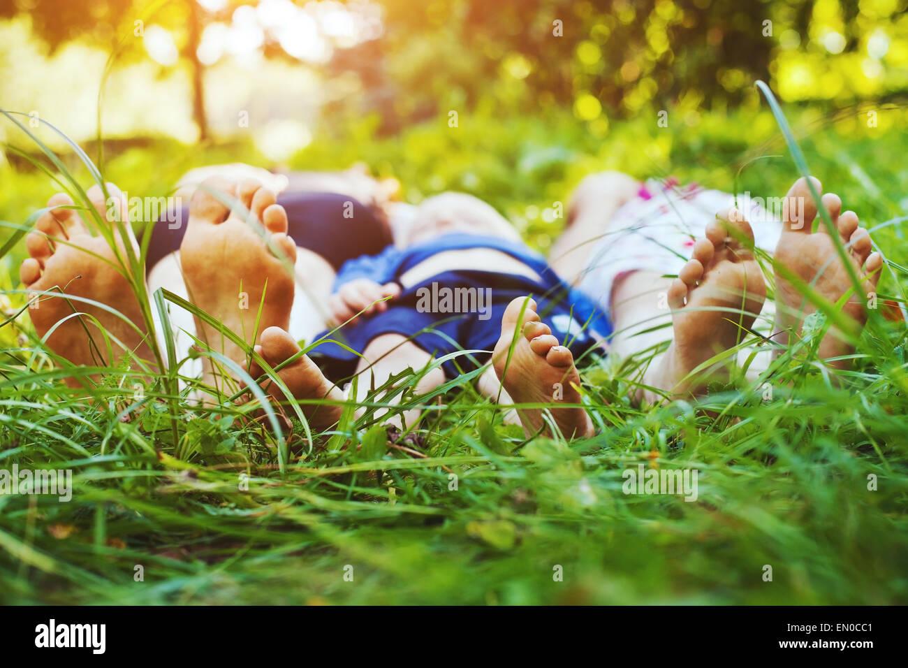 familia saludable Foto de stock