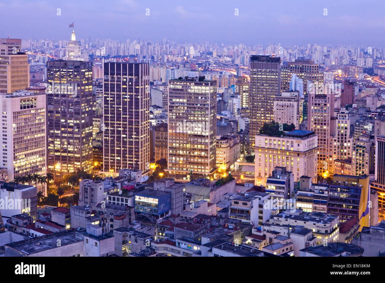Geografía/travel, América, América del Sur, Brasil, Sao Paulo, centro de la ciudad de Imagen De Stock