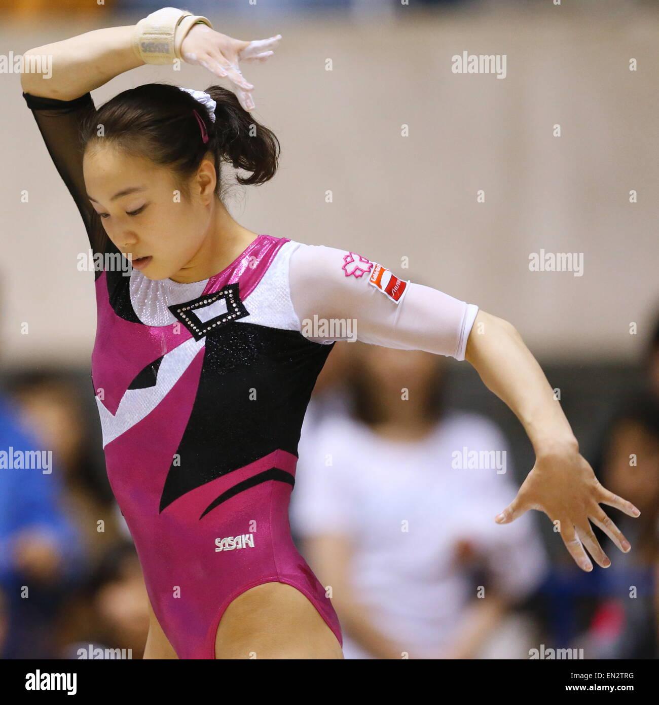 Natsumi Sasada, Abril 26, 2015 - Gimnasia Artística : El 69º Campeonato de todo Japón Gimnasia Wmen Imagen De Stock