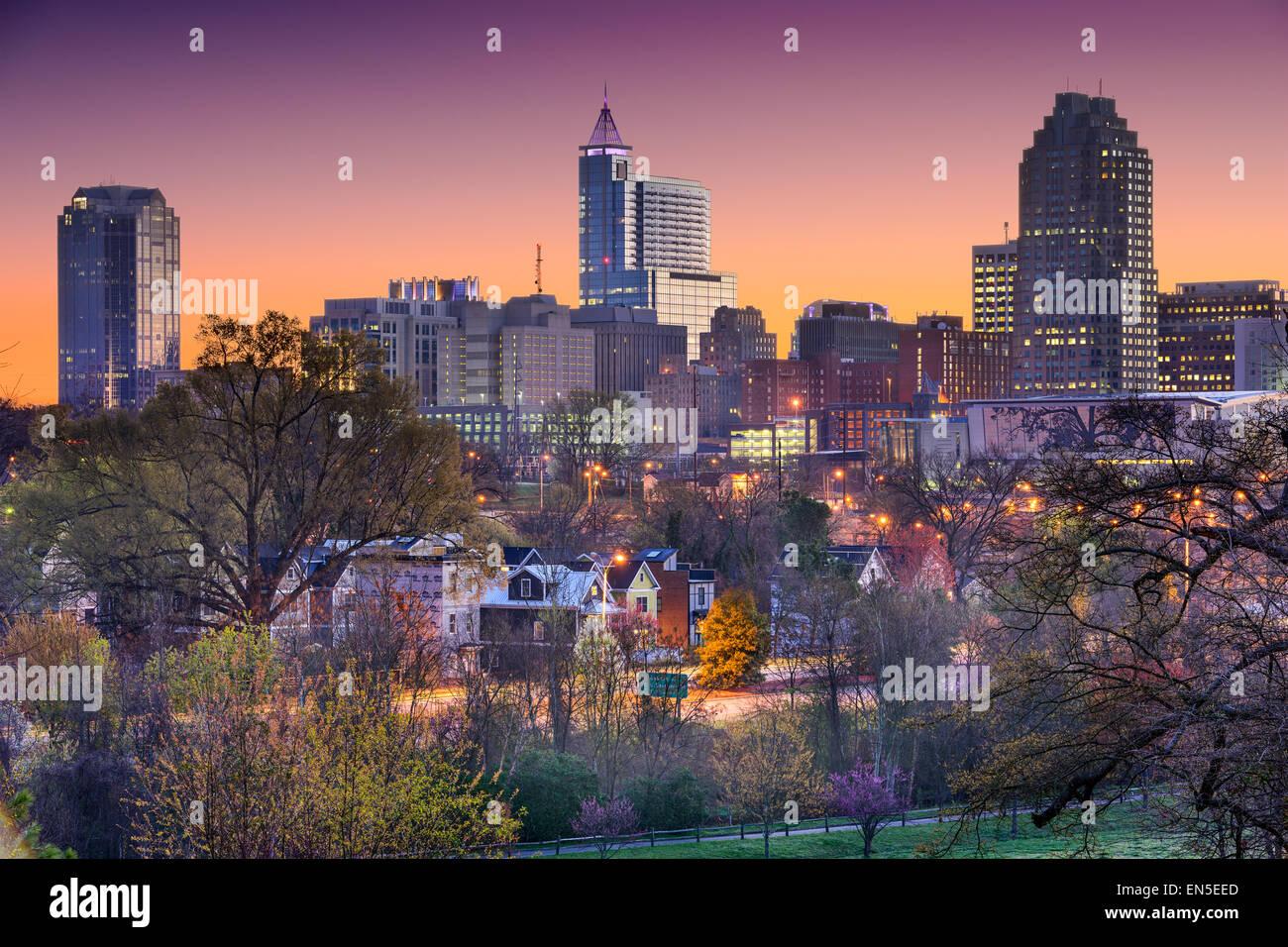 Raleigh, Carolina del Norte, EE.UU. horizonte. Foto de stock