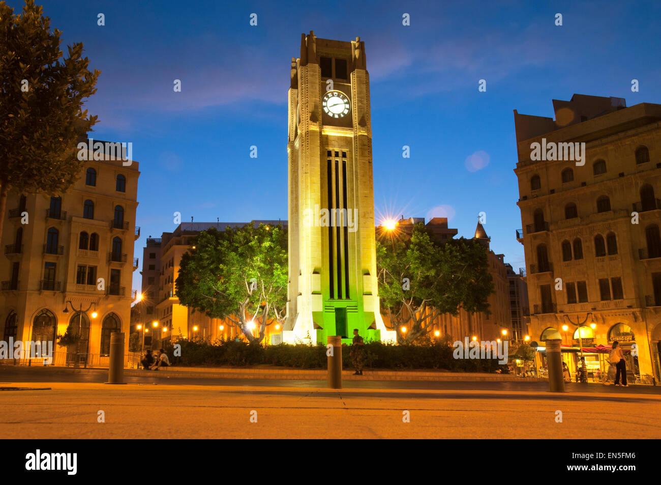Etoile Square. El centro de la ciudad de Beirut. El Líbano. Imagen De Stock