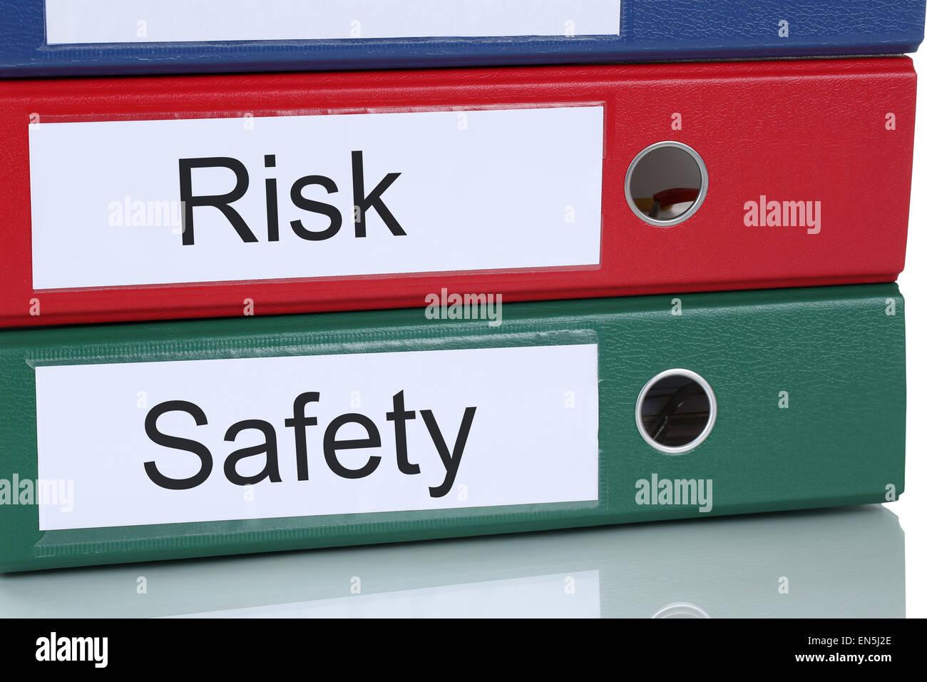 Análisis de la gestión de riesgos y seguridad en los negocios de la compañía el concepto de Imagen De Stock