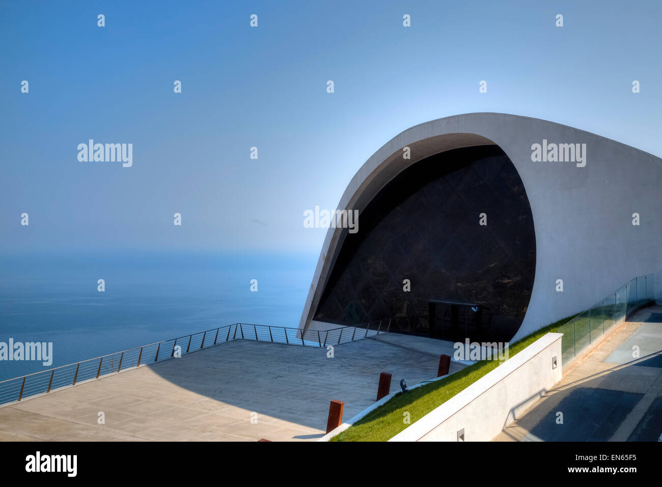 Ravello, Oscar Nieyemer auditorio, la costa de Amalfi, Campania, Italia Imagen De Stock