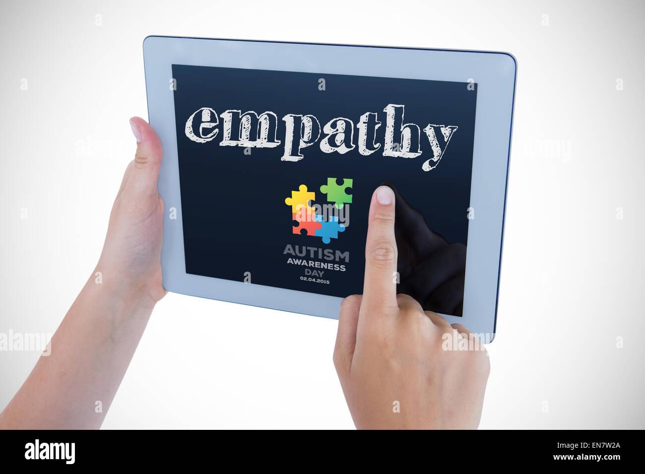Empatía contra el día de toma de conciencia sobre el autismo Imagen De Stock