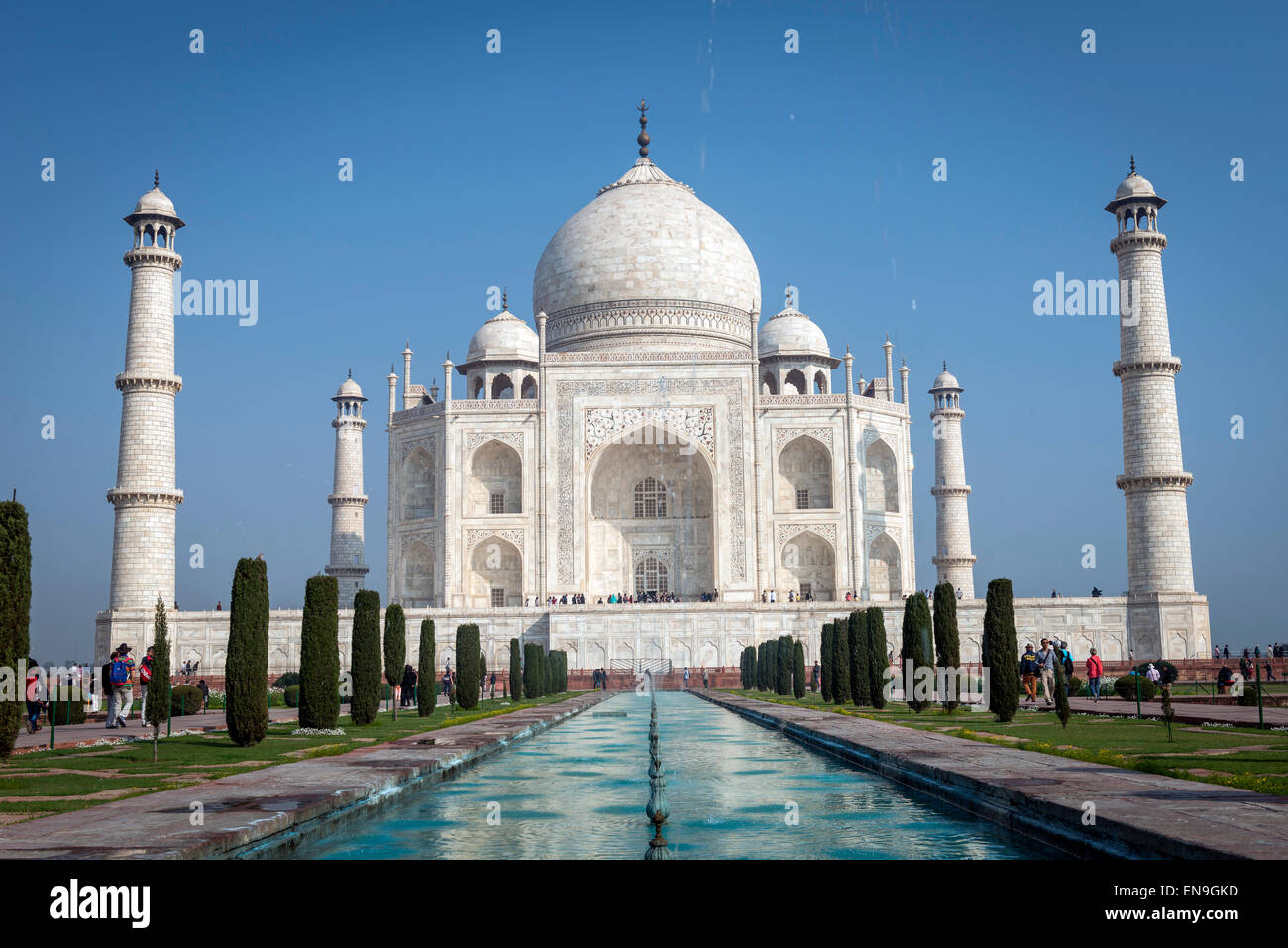 El Taj Mahal, en Agra, India Imagen De Stock