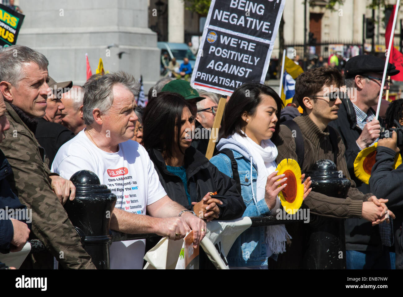Londres, Reino Unido. El 1 de mayo de 2015. Cientos de trabajadores y sindicalistas de todo el Reino Unido están Imagen De Stock