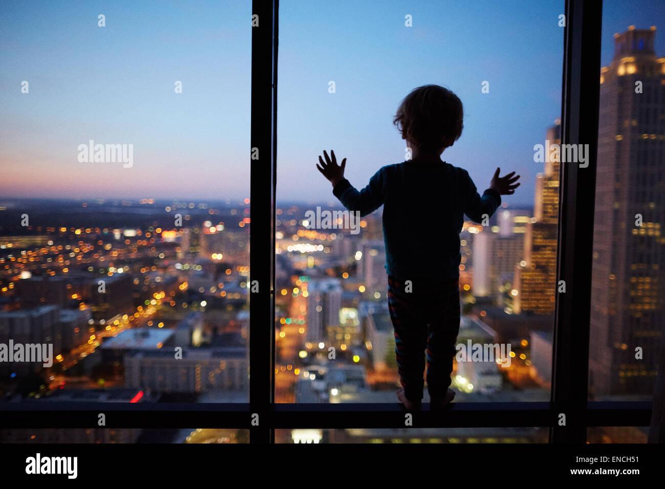 'Downtown Atlanta en Georgia usa uno noventa y uno de Peachtree es una torre de 235 m (771 ft) rascacielos de Imagen De Stock