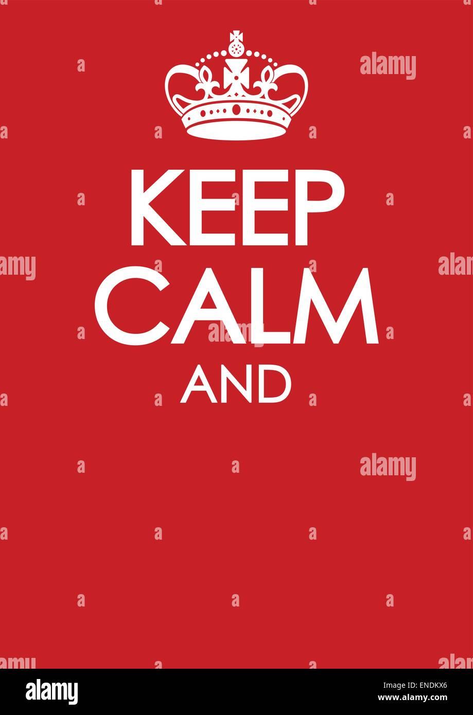 Mantener la calma y seguir poster plantilla con similar vector de corona Imagen De Stock