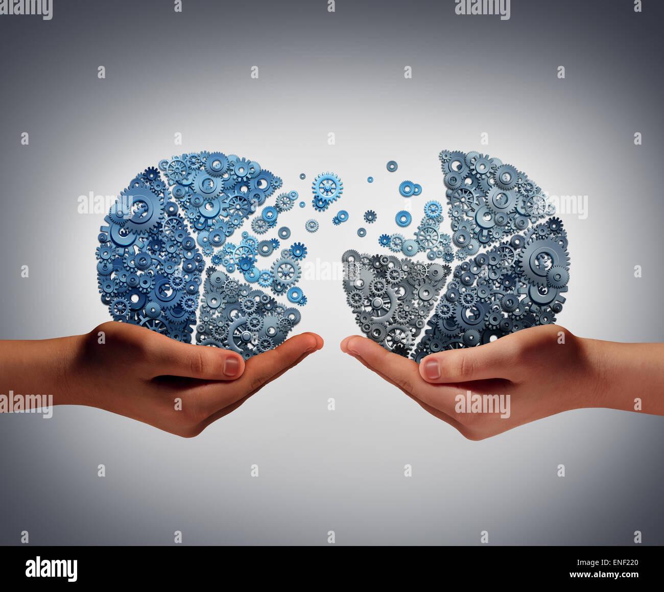 Invertir conjuntamente el concepto empresarial y respaldo financiero, apoyo a la innovación como dos personas Imagen De Stock