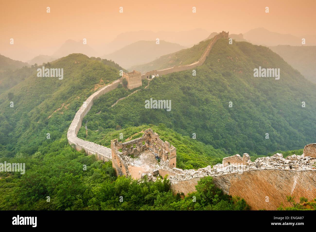 La Gran Muralla de China. Imagen De Stock