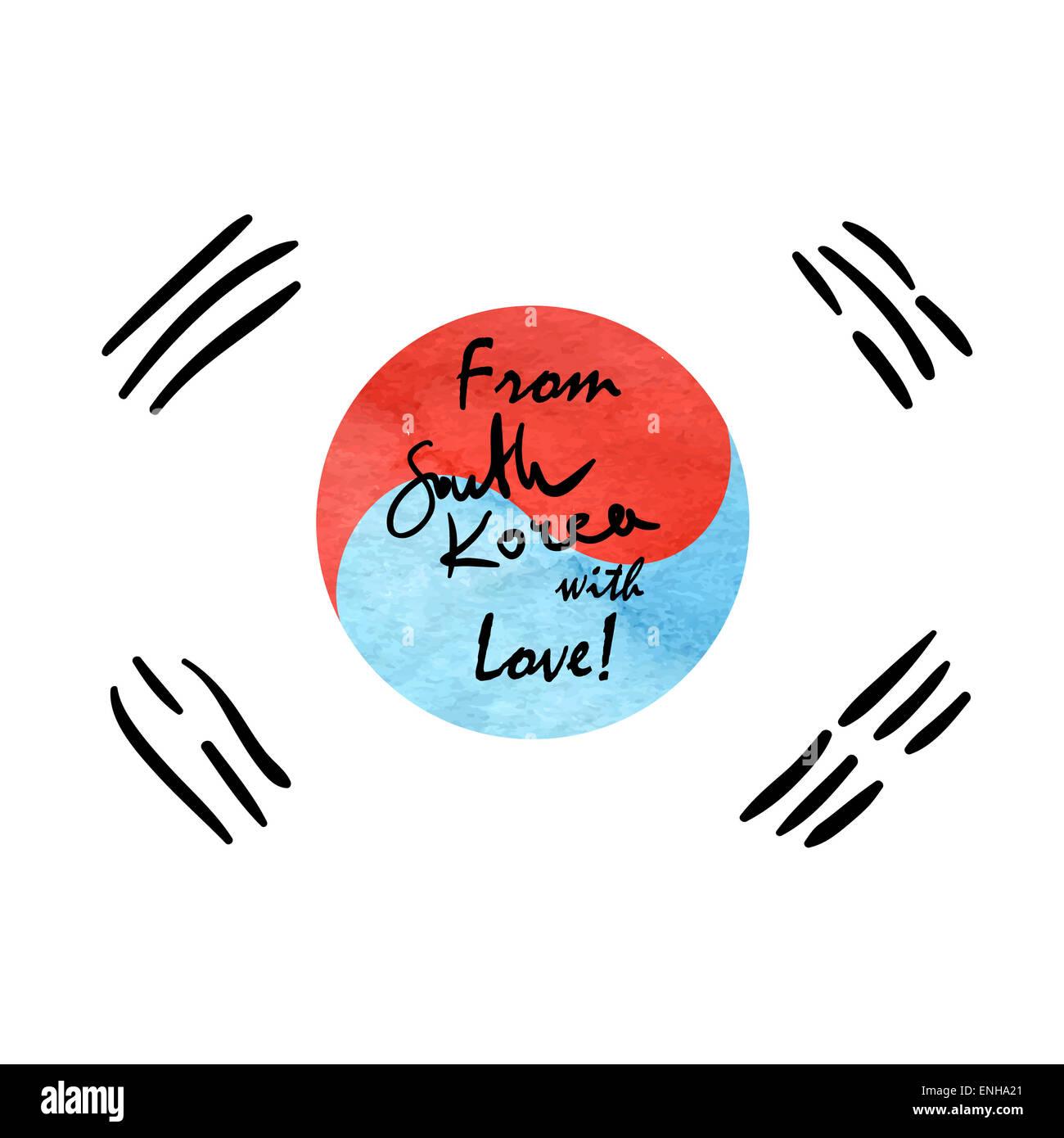 Desde Corea Del Sur Con El Amor Frase Letterig Escritos A Mano En