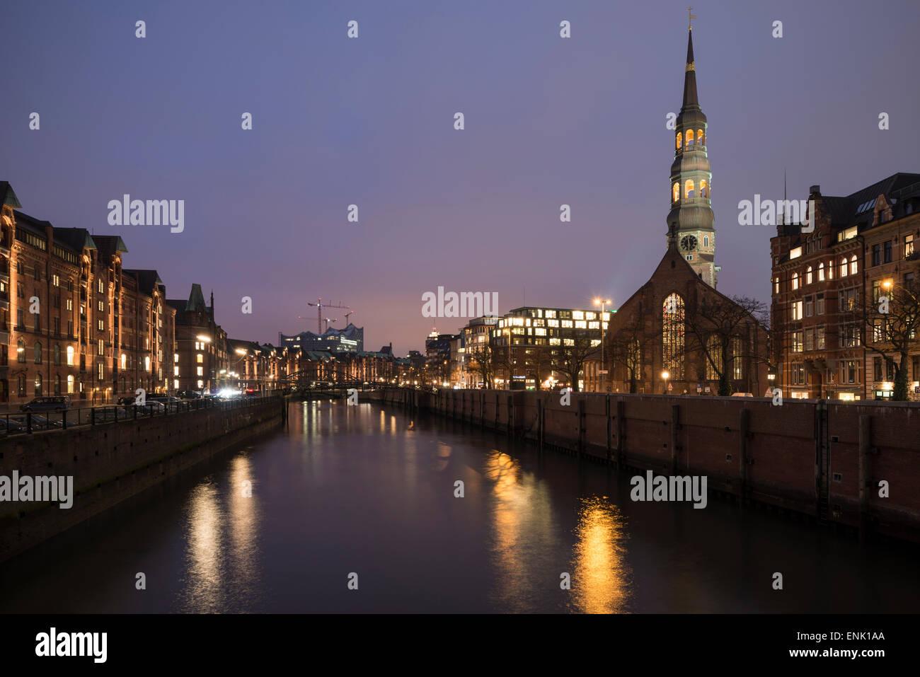 Hafencity, Hamburgo, Alemania, Europa Foto de stock