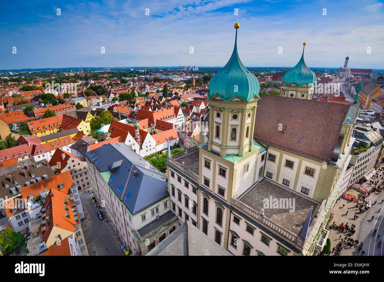 Augsburg, Alemania casco antiguo paisaje urbano. Imagen De Stock