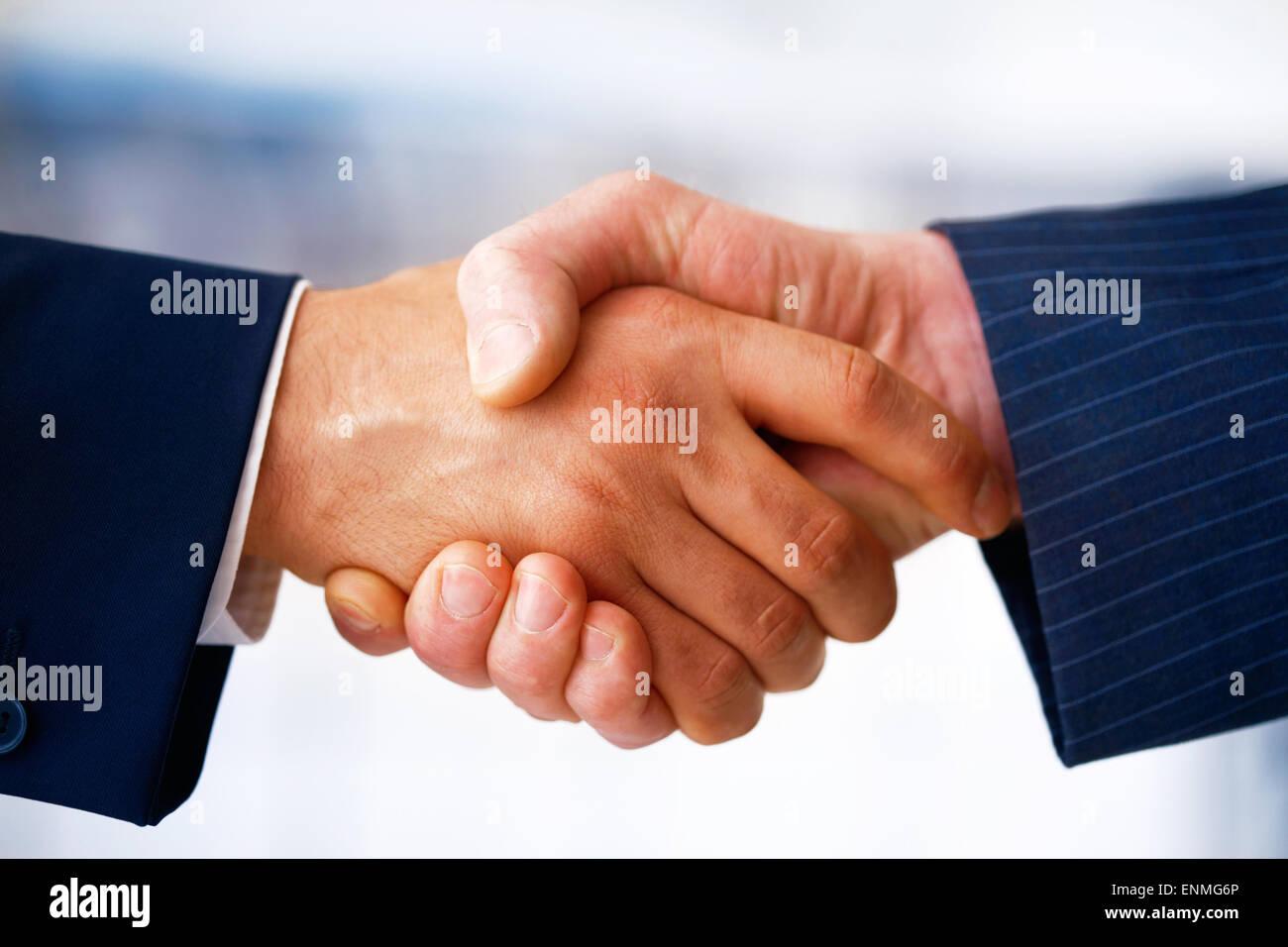 Comunicar y apretón de manos Imagen De Stock