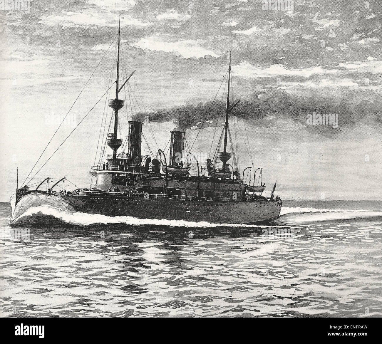 El juicio de los Estados Unidos viaje crucero Olympia, circa 1895 Imagen De Stock