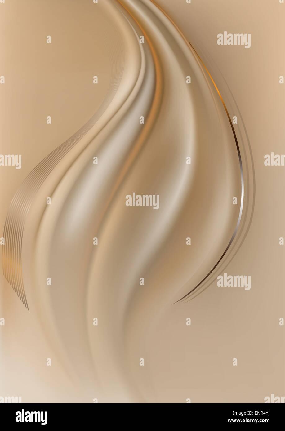 4e4469735861f Naranja y plata líneas curvas en color marrón claro de fondo de malla  Imagen De Stock