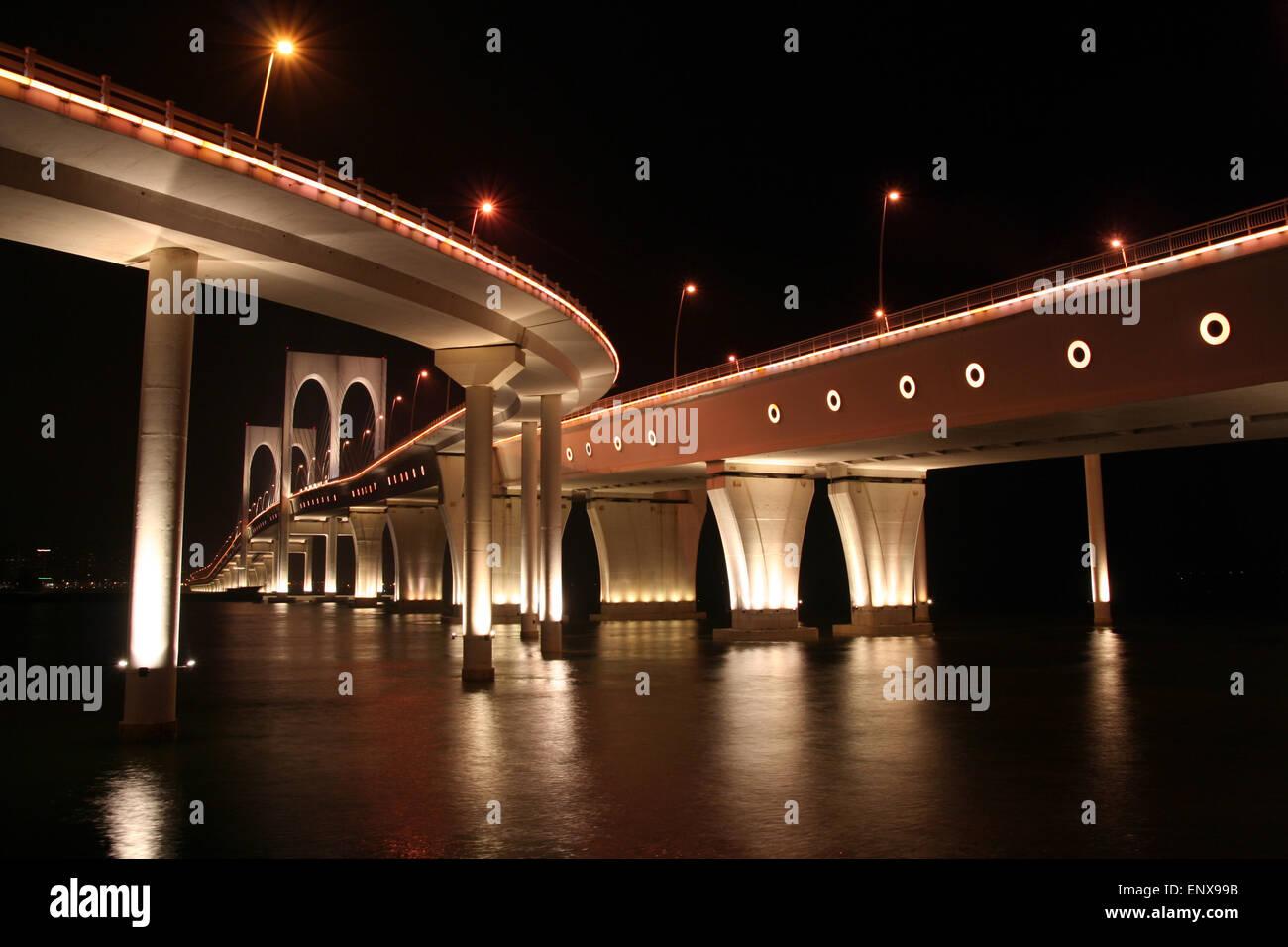 Gobernador Nobre de Carvalho en Macao puente Imagen De Stock