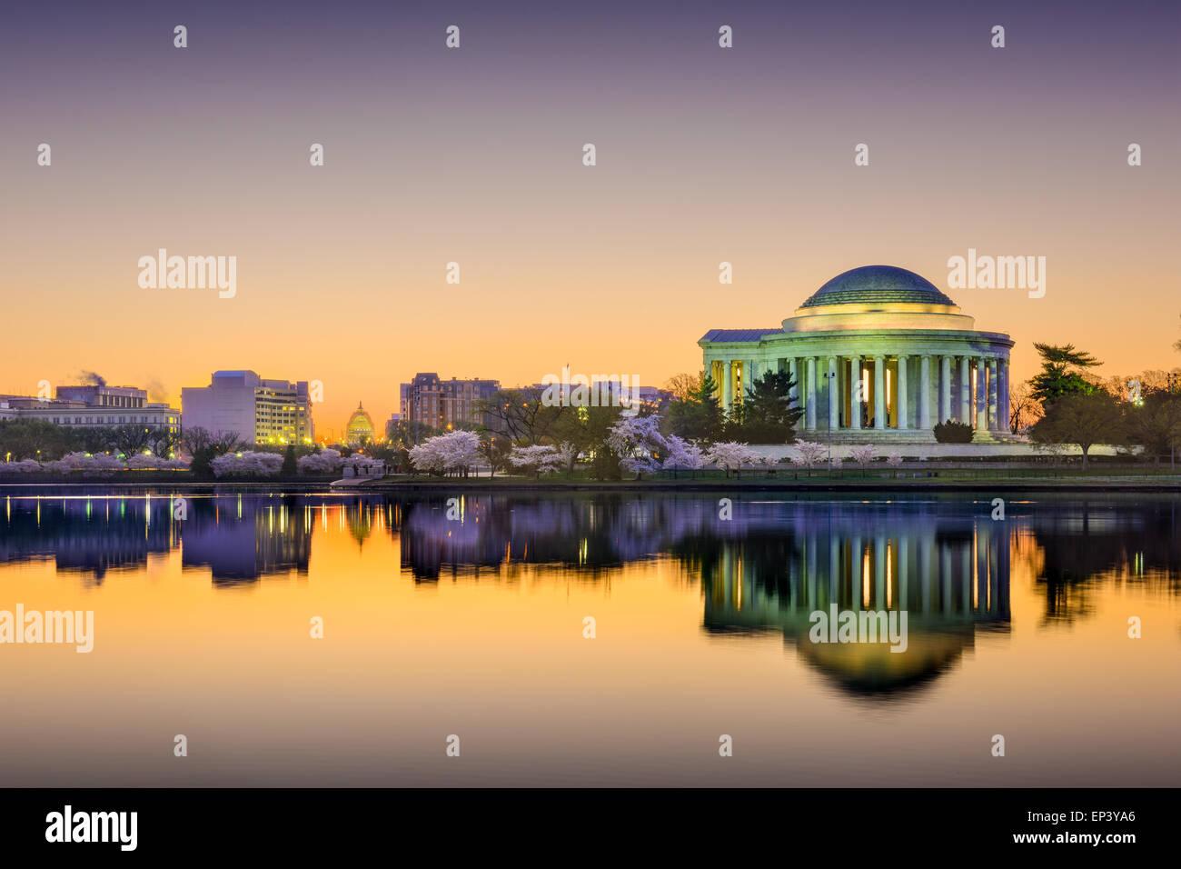 Washington, DC, en el Tidal Basin. Imagen De Stock