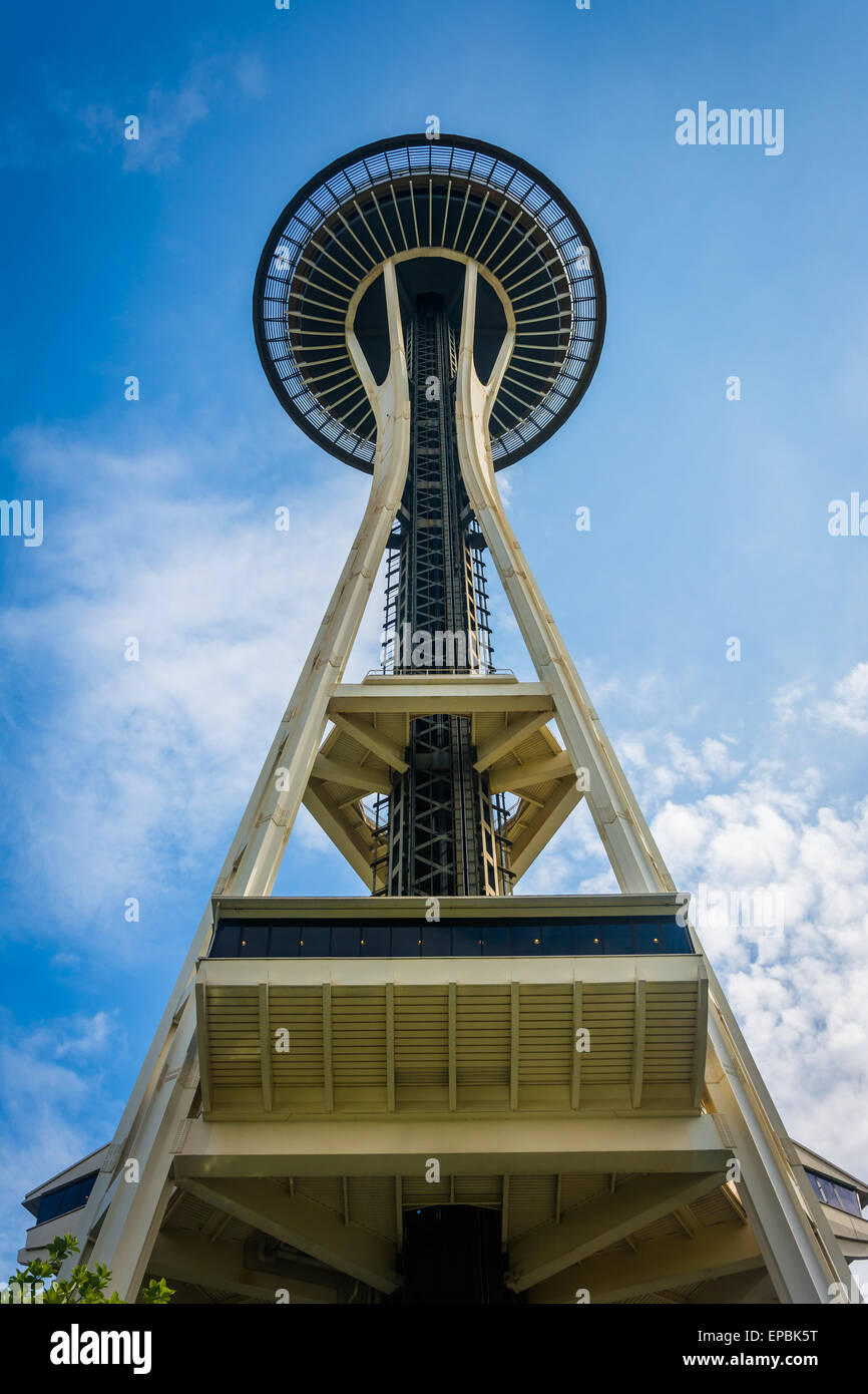 La Aguja Espacial de Seattle, Washington. Imagen De Stock