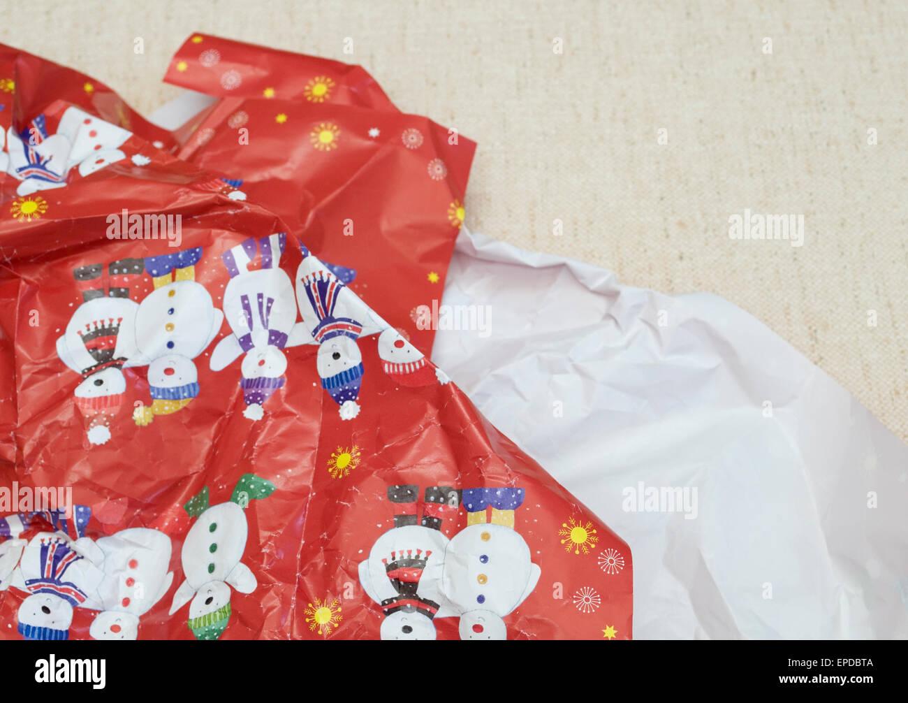 Papel de regalo de Navidad Imagen De Stock